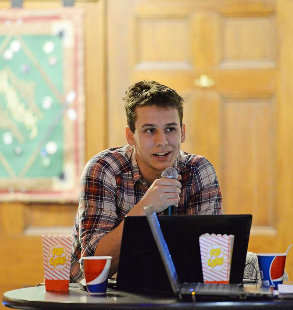During Tuesday night's Student Government Board meeting,  Joe Streets,  discussed a new composting dumpster which will be placed behind Posvar Hall.  Will Miller | Staff Photographer
