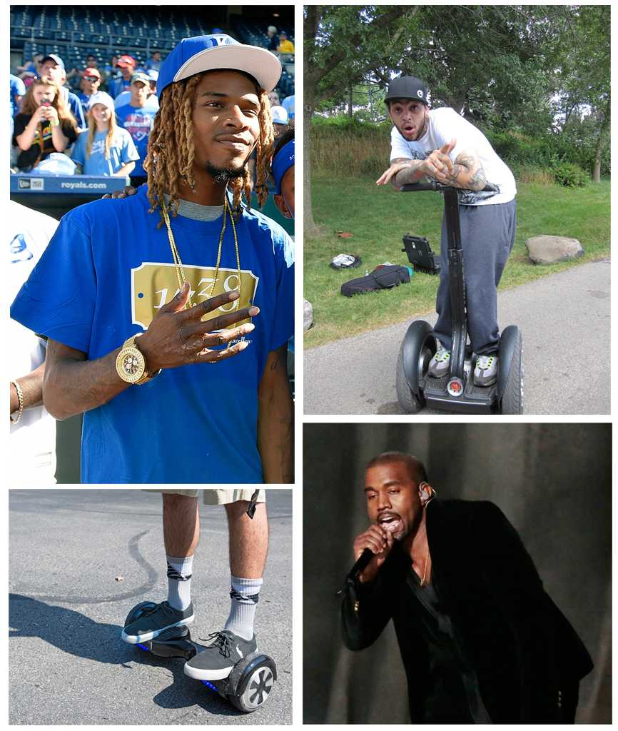 Segways are out, being replaced by hoverboards and Fetty Wap is in, phasing out Kanye West.  TNS