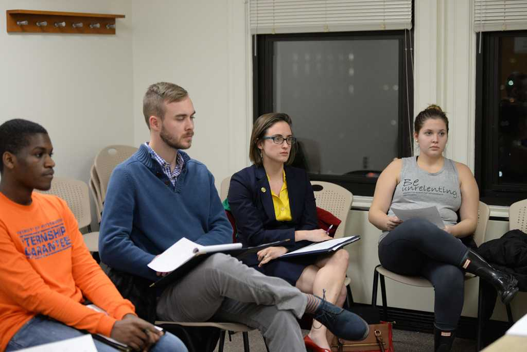 Members of  SECC participate in a weekly meeting Monday night in the William Pitt Union.  Will Miller | Staff Photographer