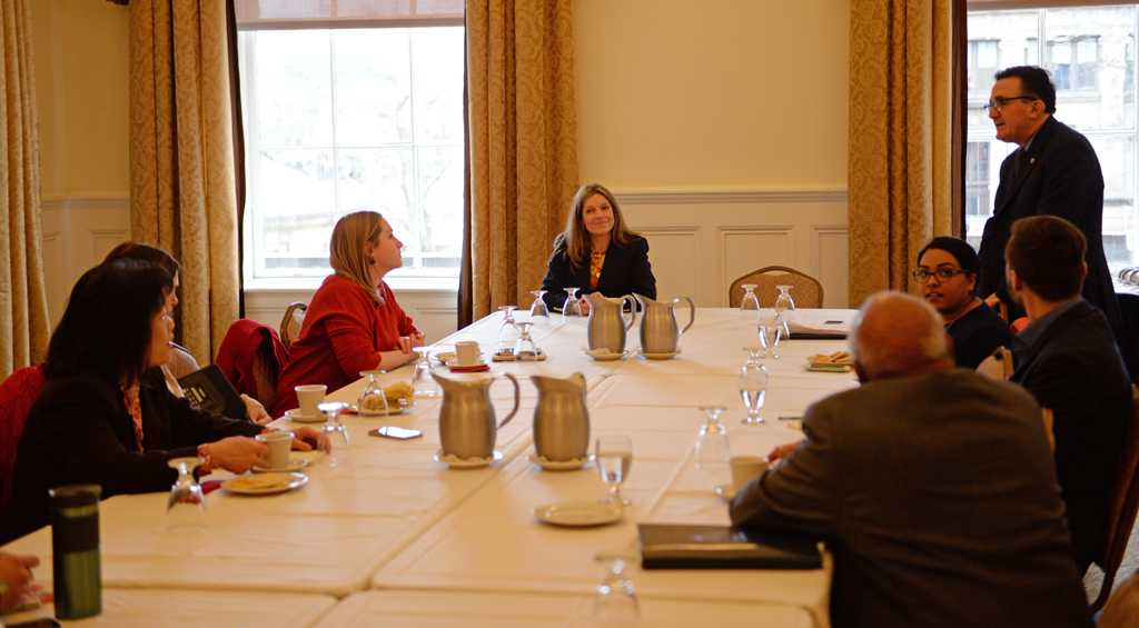 Joanne Vogel, who currently serves as interim vice president for student affairs at Southern Methodist University in Dallas, attended an open meeting 11 a.m. Wednesday in the University Club.