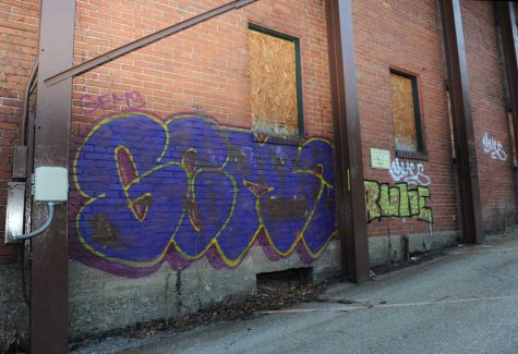 Max's graffiti is prominently located in Oakand, Shadyside, East Liberty, and Bloomfield.  Jeff Ahearn | Assistant Visual Editor