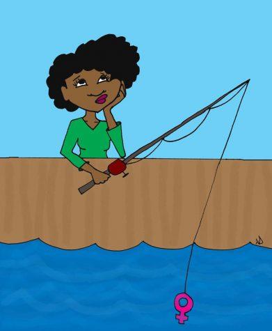 No love for women fishing for women