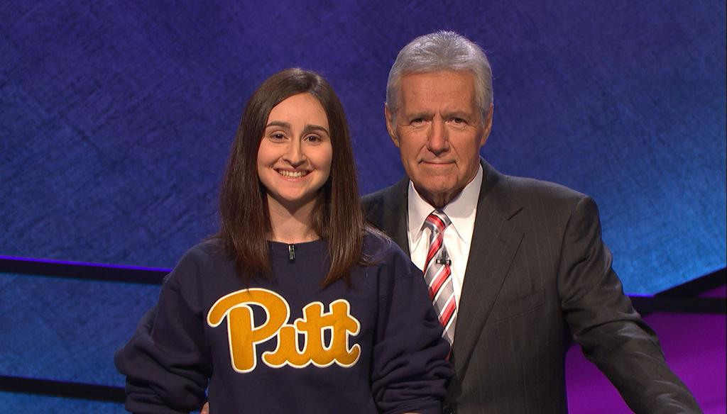 Sarah Dubnick appears on Jeopardy.  (Credit NBC)