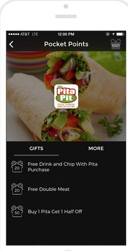 Screenshot of Pocket Points app.