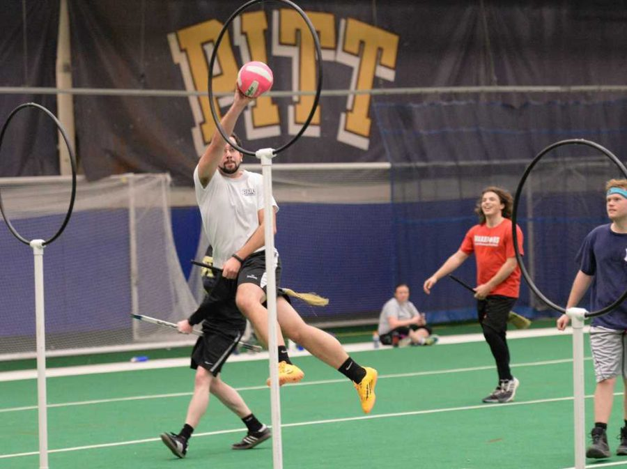 The+Pitt+Quidditch+Club+holds+a+practice+game+at+the+Charles+L.+Cost+Sports+Center.++Will+Miller+%7C+Staff+Photographer