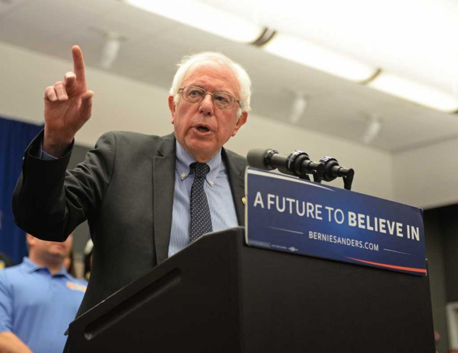 Bernie Sanders held a rally in Pittsburgh Thursday morning at the David Lawrence Convention Center downtown. Kate Koenig | Visual Editor