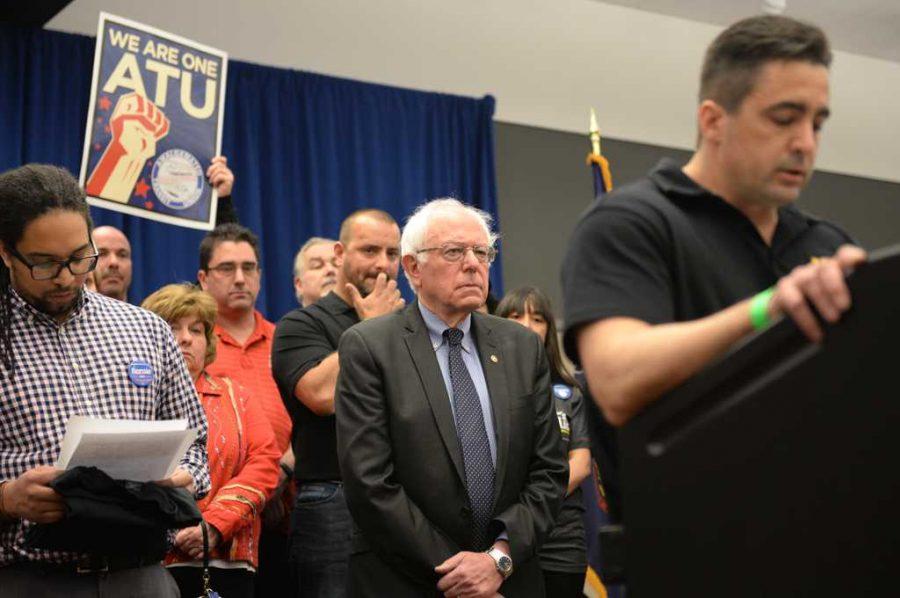Before+the+rally%2C+Senator+Bernie+Sanders+held+a+press+conference.+Kate+Koenig+%7C+Visual+Editor+