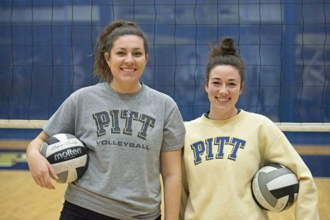 Pair of club volleyball players reveling in final season