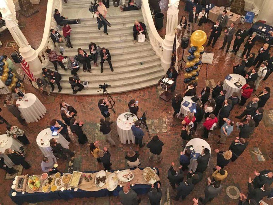 The+reception+under+Harrisburg%27s+Capital+dome.+++Josh+Ye+for+The+Pitt+News