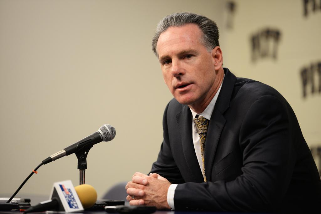 Jamie Dixon is leaving Pitt after 13 seasons as head coach.  Theo Schwarz | Senior Staff Photographer