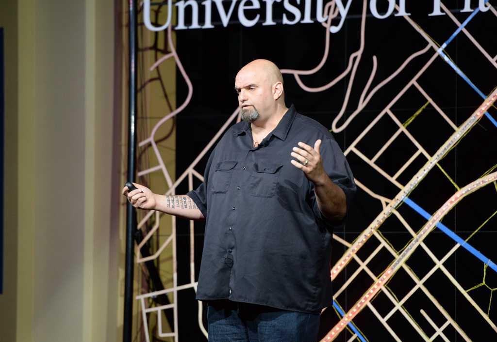 John Fetterman, Mayor of Braddock, was one of six speakers at the TedX talk.  Will Miller | Staff Photographer