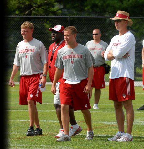 Matt Canada coaches at Indiana