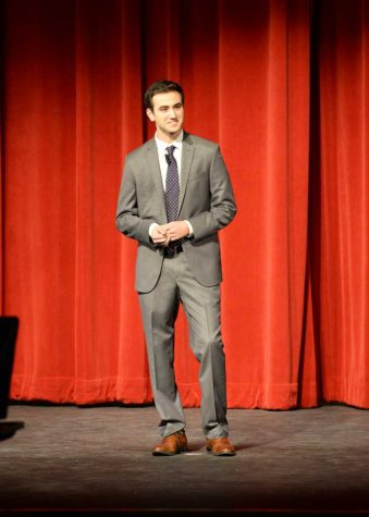 Jesse Irwin hosted the final Pitt Tonight show on Thursday. Will Miller | Staff Photographer
