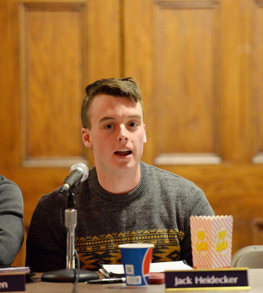 Jack Heidecker introduced a bill that would make pitt a Tobacco-free campus. Will Miller | Staff Photographer