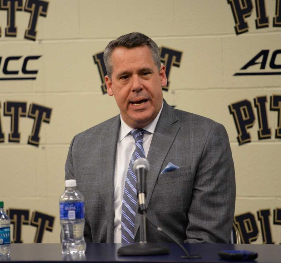 Pitt+athletic+director+Scott+Barnes+will+oversee+the+athletic+department+restructering+plan.+Jeff+Ahearn+%7C+Senior+Staff+Photographer
