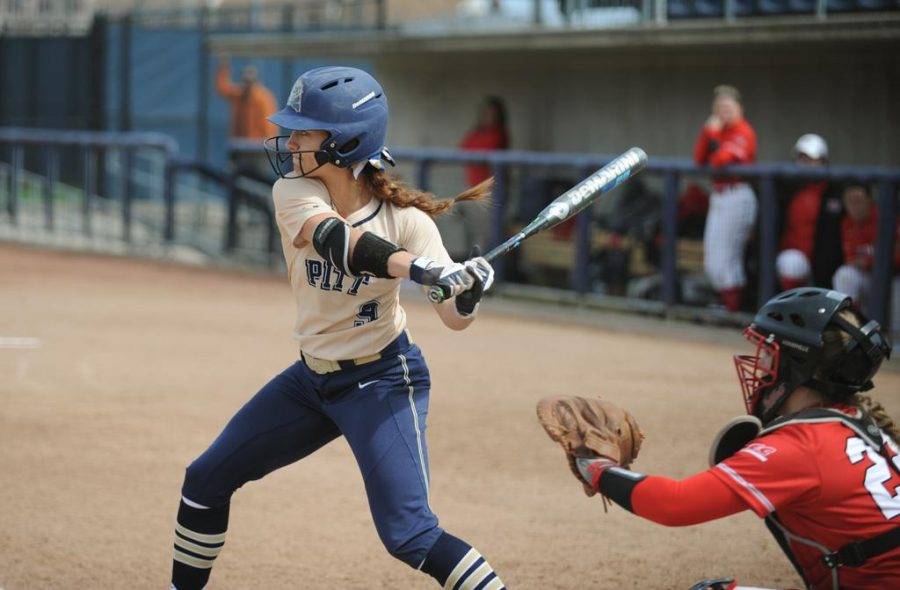 Erin+Hershman+made+First+Team+All-ACC+for+Pitt+softball.+John+Hamilton+%7C+Staff+Photographer