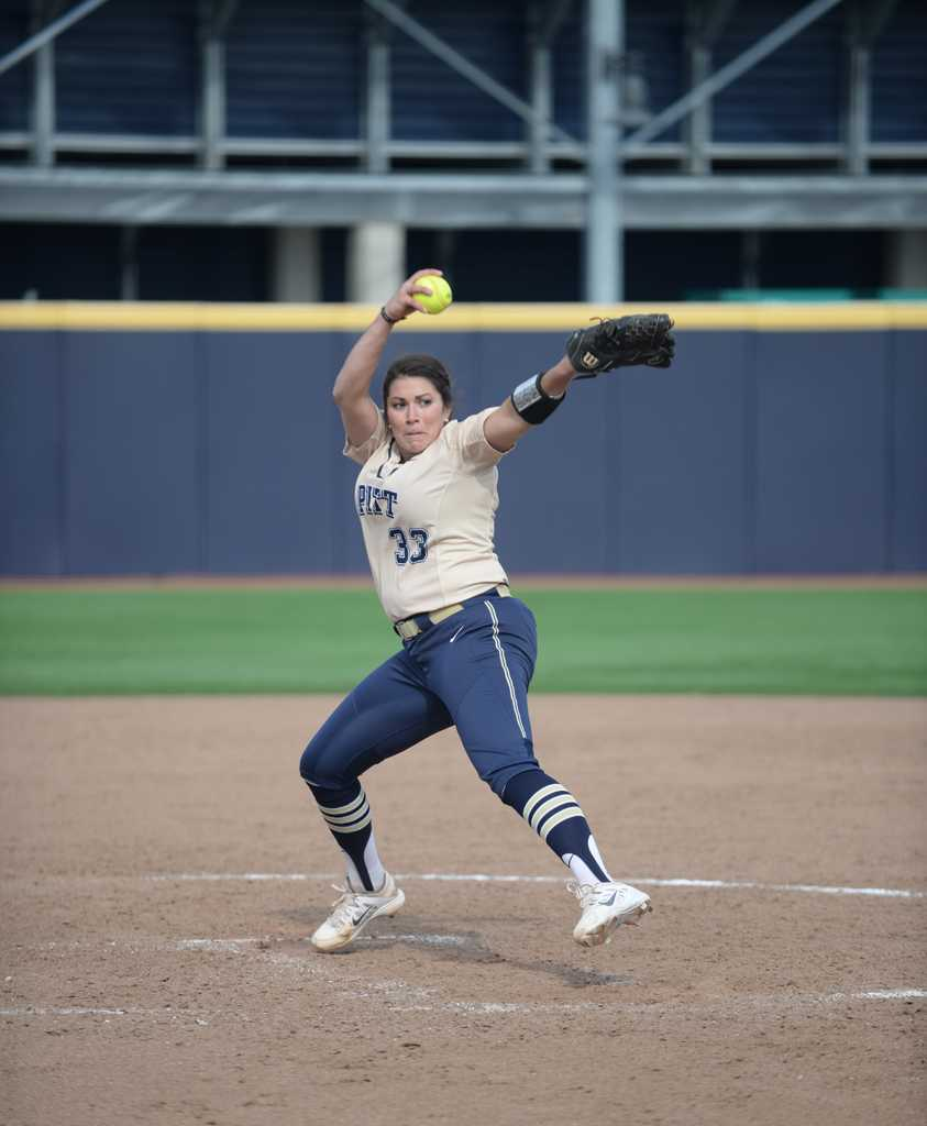Jenna Modic pitched her last game as a Pitt Panther. | Wenhao Wu / Staff Photographer