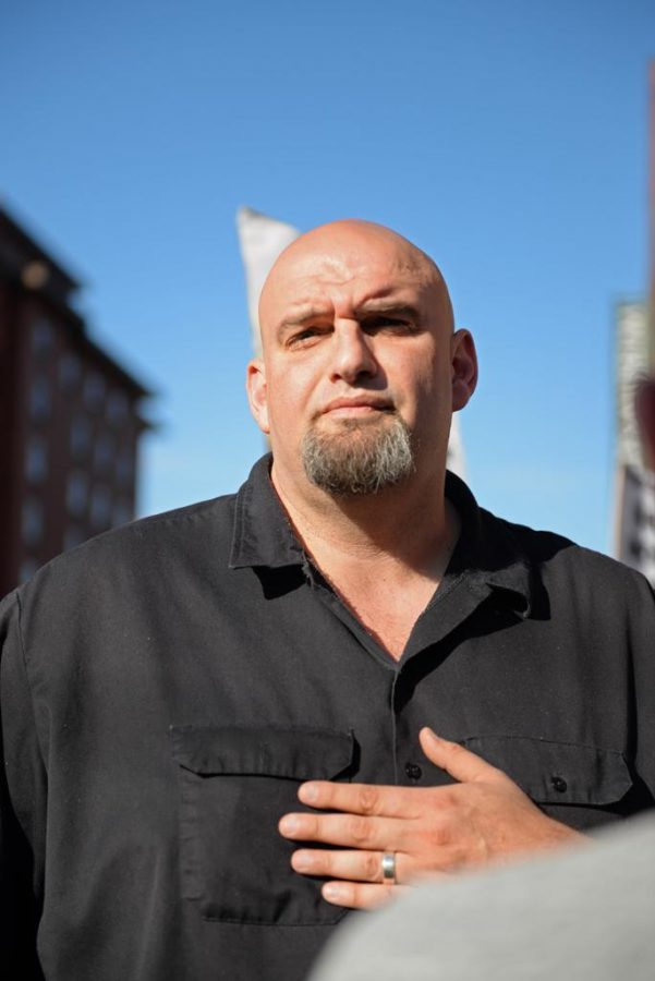 John+Fetterman+spoke+at+a++rally+held+on+Smallman+St.+and+12th+St+before+the+protests+began.+Kate+Koenig+%7C+Visual+Editor