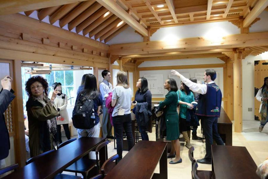 A+tour+group+views+the+new+Korean+nationality+room.++Jeff+Ahearn+%7C+Assistant+Visual+Editor