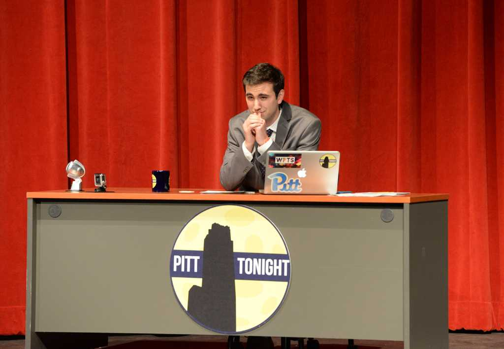 Jesse Irwin hosting the season finale of Pitt Tonight in April 2016. Will Miller | Staff Photographer