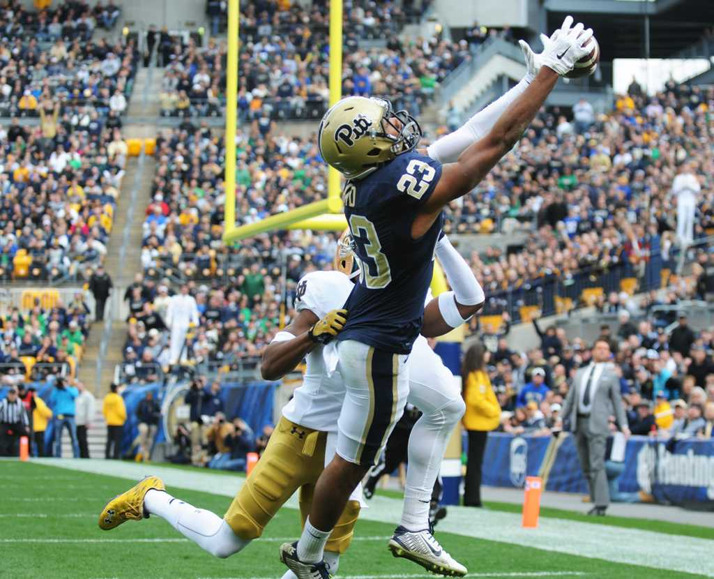 One of the most prolific receivers in school history, Tyler Boyd (23) will line up as a member of the Cincinnati Bengals next season. | Pitt News Archives