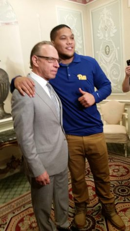 James Conner and Dr. Stanley Marks | Photo by Steve Rotstein