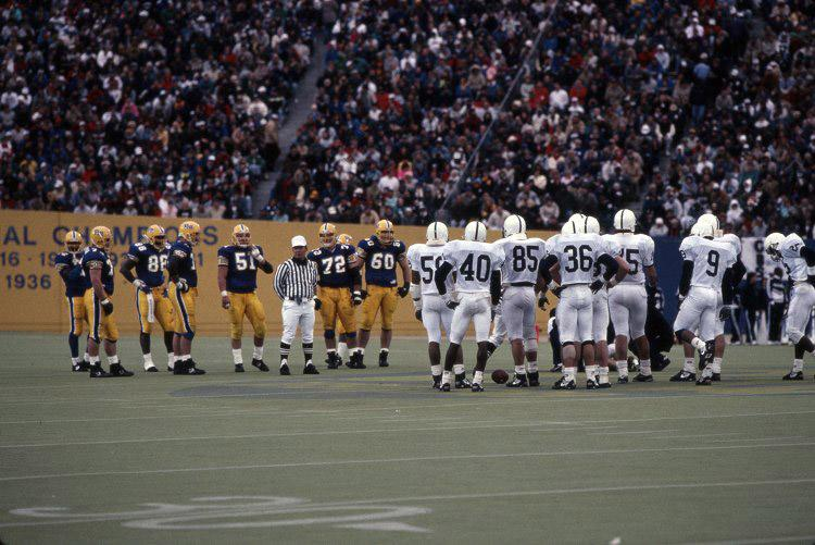 The+Pitt-Penn+State+football+rivalry+will+be+renewed+at+Heinz+Field+this+fall.+Photo+courtesy+of+Pitt+Archives+