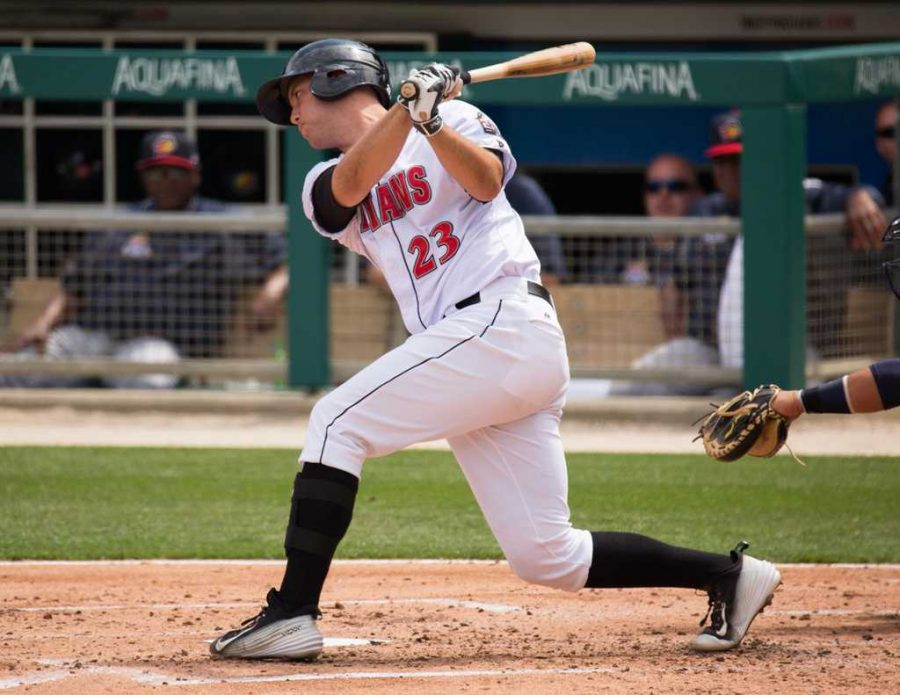 Jacob Stallings batting for the Indianapolis Indians. Courtesy of Adam Pintar