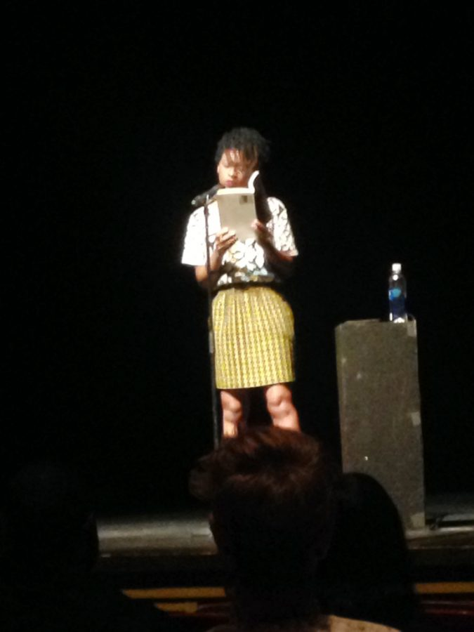Camille Rankine reads from her collection 'Incorrect Merciful Impulses' / photo by Matt Maielli