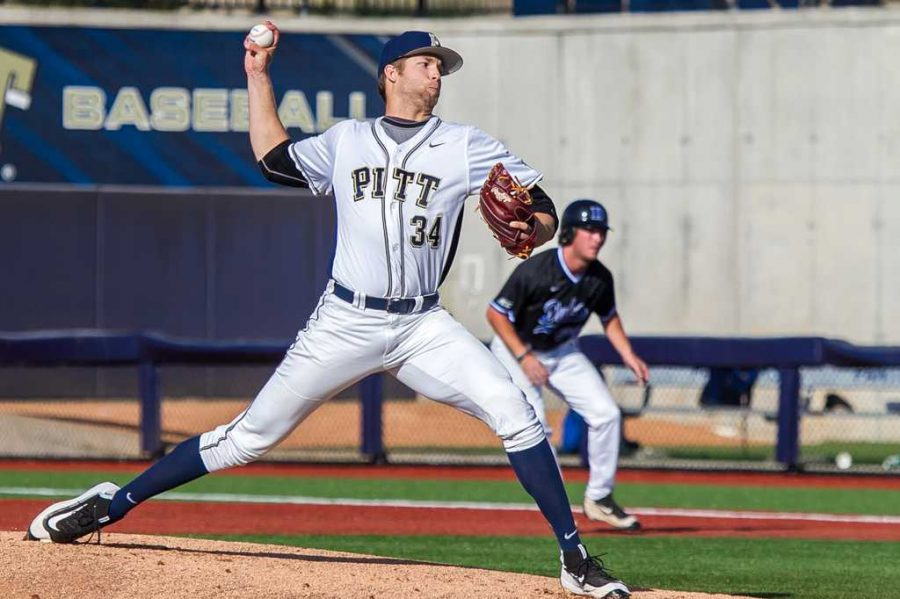 Pitcher T.J. Zeuch is one of five Pitt Panthers selected in the 2016 MLB Draft. - Credit: Jeffrey Gamza/Pitt Athletics