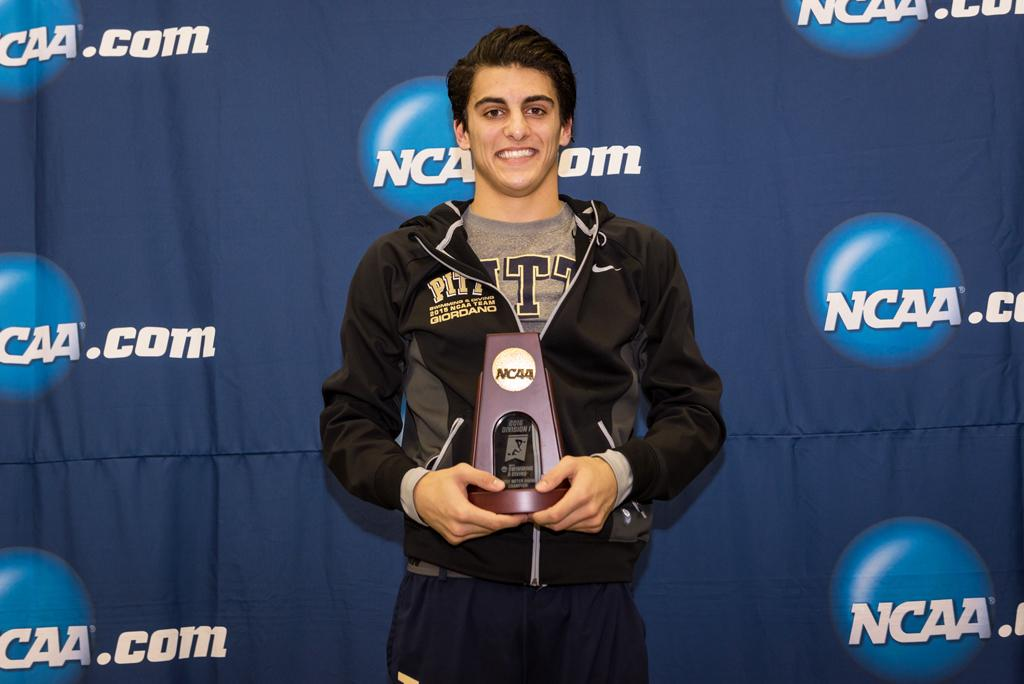 NCAA champion diver Dominic Giordano is one of 14 ACC Men's Performers of the Year named to the ACC Academic Honor Roll. Courtesy of Pitt Athletics