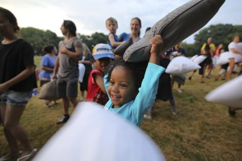 GALLERY: Pillow fight erupts on Flagstaff Hill