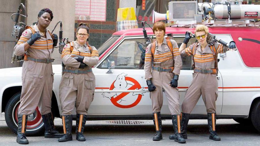 Melissa+McCarthy%2C+Kristen+Wiig%2C+Kate+McKinnon+and+Leslie+Jones+in+%22Ghostbusters.%22+%28Sony+Pictures%29