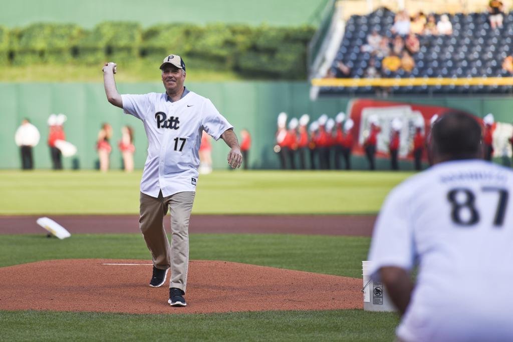 Gallagher also got a chance to throw out the first pitch. Matt Hawley | Staff Photographer