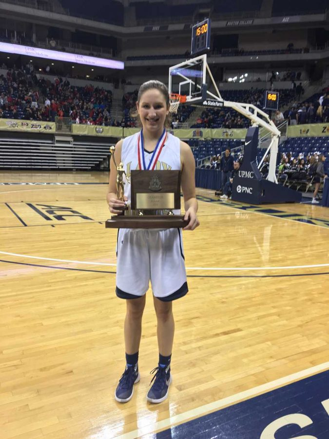Incoming Pitt women's basketball recruit Alayna Gribble has already won two WPIAL titles on her new home court. Courtesy of Alayna Gribble