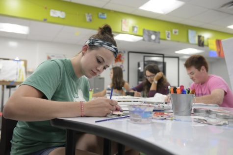 Students craft, converse at new Center for Creativity