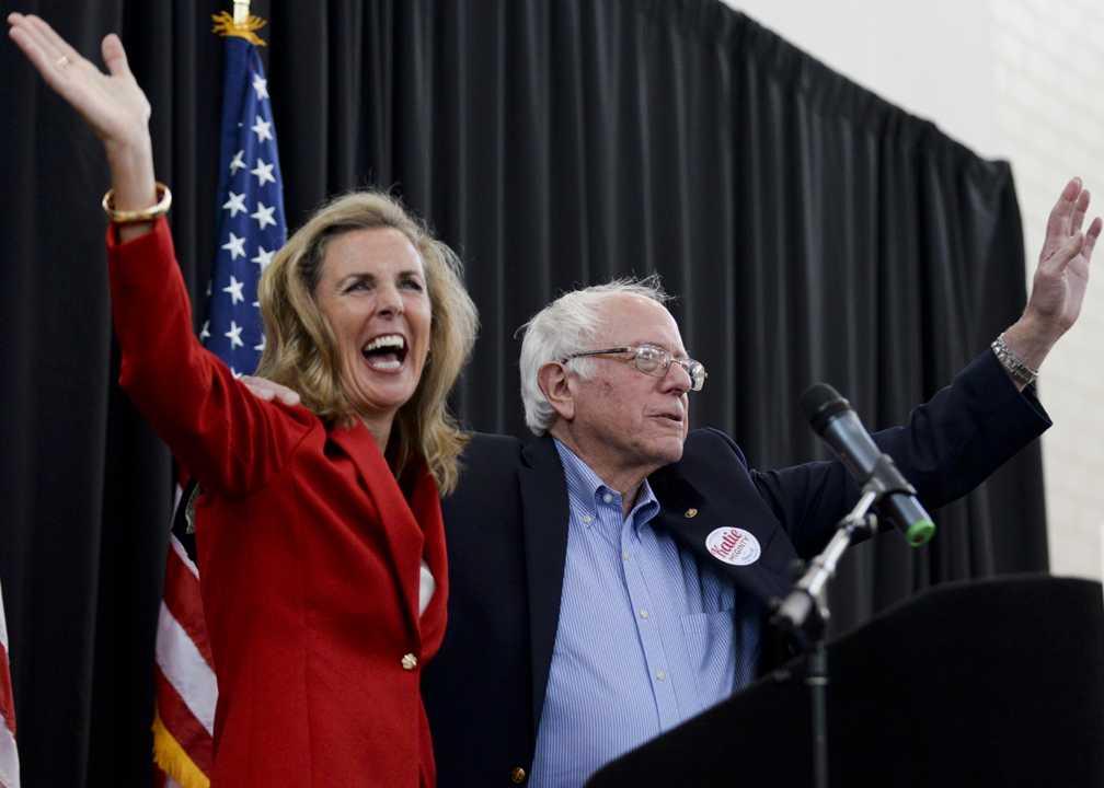 Senatorial candidate Katie McGinty campaigns  with Bernie Sanders at Carnegie Mellon University.  John Hamilton | Staff Photographer