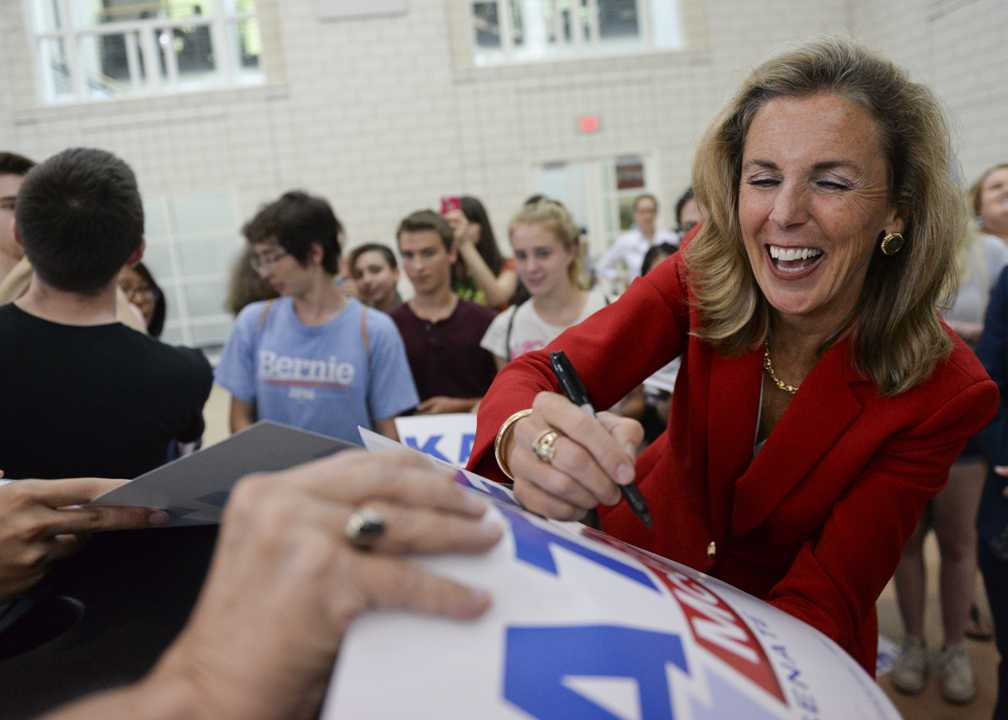 Katie McGinty signs autographs after the event.  John Hamilton | Staff Photographer