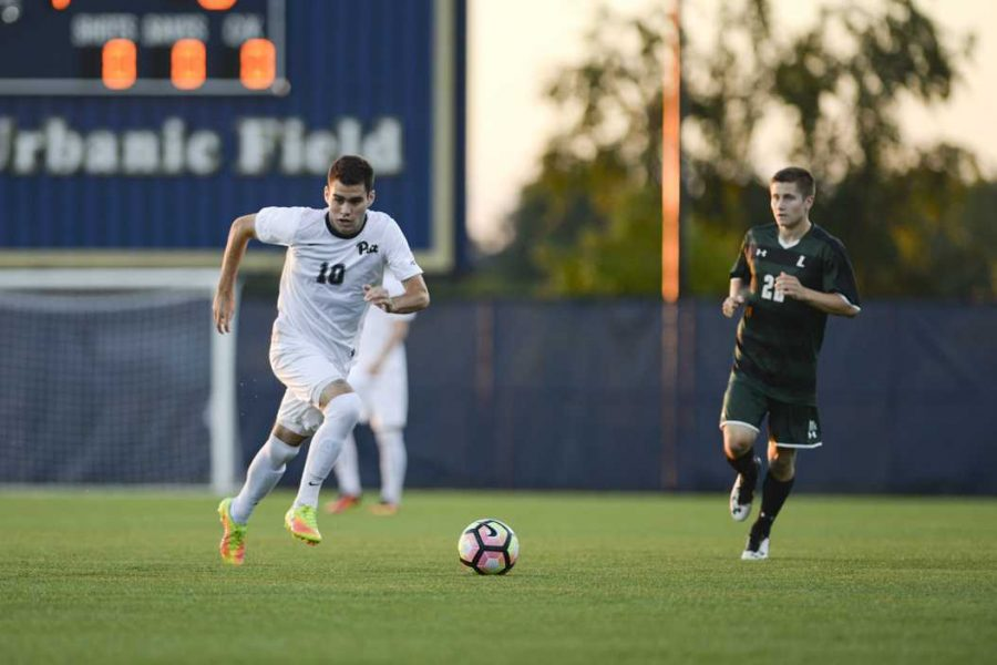 Senior midfielder Matt Venanzi (10) scored Pitt's only goal against Virginia Tech on Friday. John Hamilton | Staff Photographer