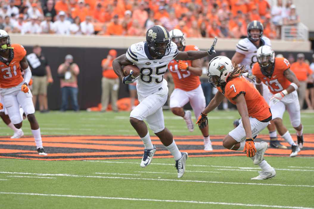 Oklahoma State defeated Pitt on Saturday in Stillwater, Oklahoma. Courtesy of Pitt Athletics.