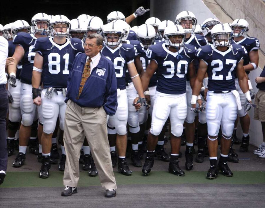Joe+Paterno+leading+the+Nittany+Lions+as+their+Head+Coach+from+1966-2011.+%28TNS%29