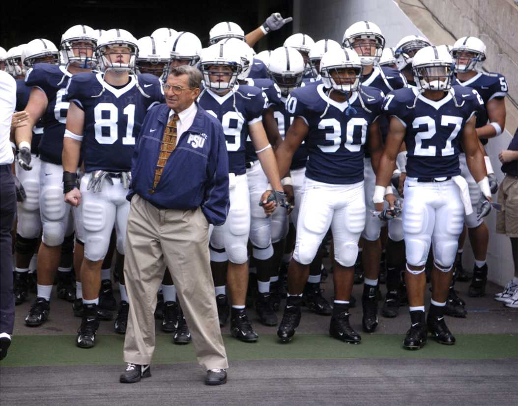 Joe Paterno leading the Nittany Lions as their Head Coach from 1966-2011. (TNS)