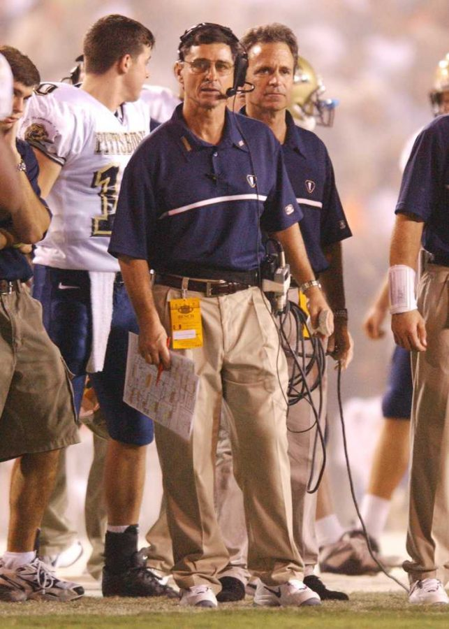 Walt Harris led the Panthers as head coach from 1997 to 2005. Courtesy of Pitt Athletics.