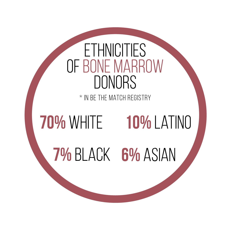 Breakdown of bone marrow donor ethnicity. | Danah Bialoruski / Layout Editor