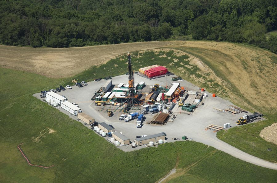 Fracking rigs in Butler County dot the landscape across western Pennsylvania. TNS