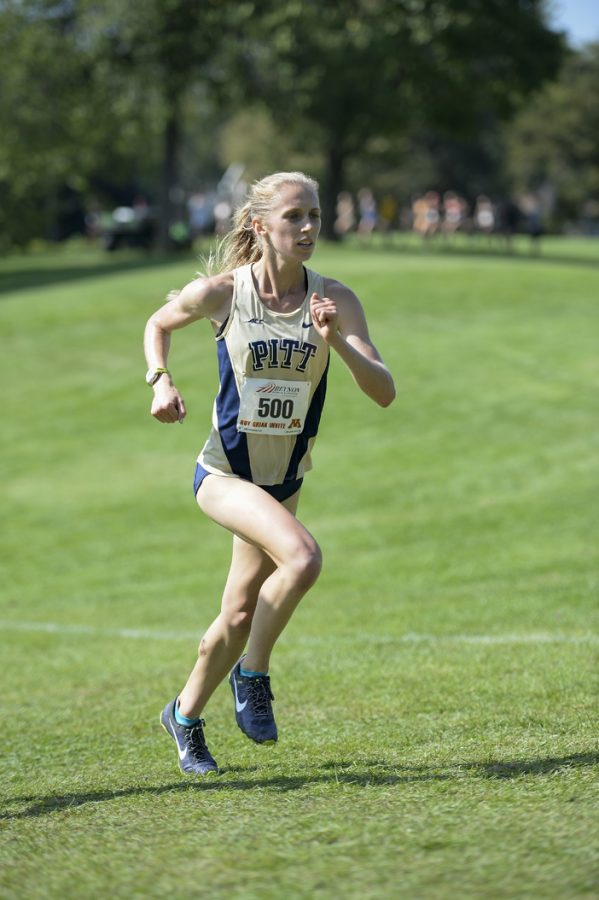 After+finishing+fifth+in+the+6k%2C+Gillian+Schriever+became+an+All-ACC+Cross+Country+honoree.+Courtesy+of+Pitt+Athletics