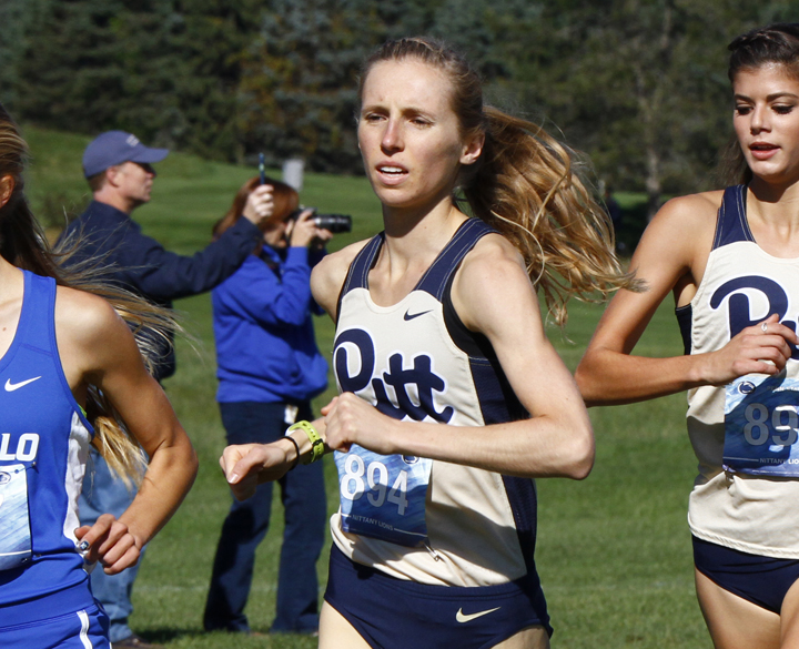 Gillian+Schriever+posted+a+personal+best+time+in+the+6k+in+Pitt%27s+final+regular+season+meet+last+Friday.+Courtesy+of+Barry+Shenck%2FPitt+Athletics