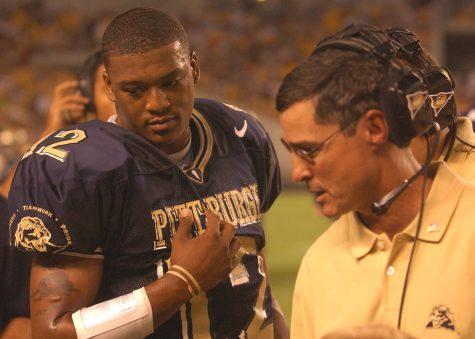 Pitt quarterback Rod Rutherford went 2-0 as a starter against Virginia Tech under head coach Walt Harris. Courtesy of Pitt Athletics