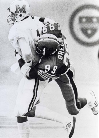 Hugh Green (99) played for the Panthers from 1977 to 1980. Courtesy of Pitt Athletics