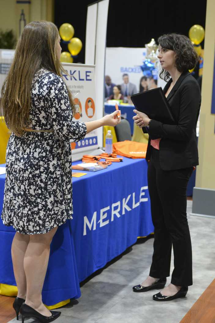 Prospective employers visited the University Oct. 4 and 5 for the Humanities Career Fair. Meghan Sunners | Senior Staff Photographer